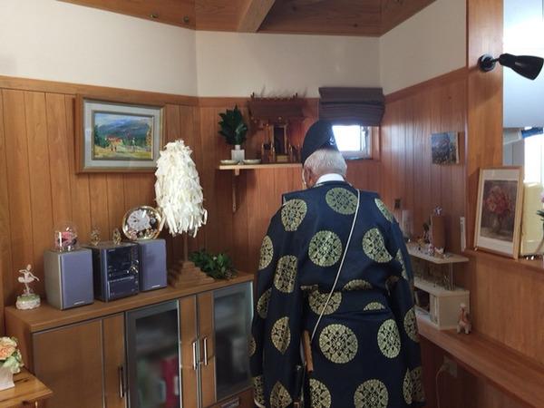 神棚・社を移動したので、お祓いをいたしました。