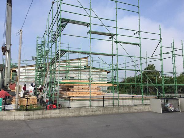南横市町の現場では建て方。動画有り!