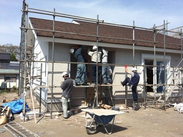 外壁塗り壁 そとん壁 施工終了
