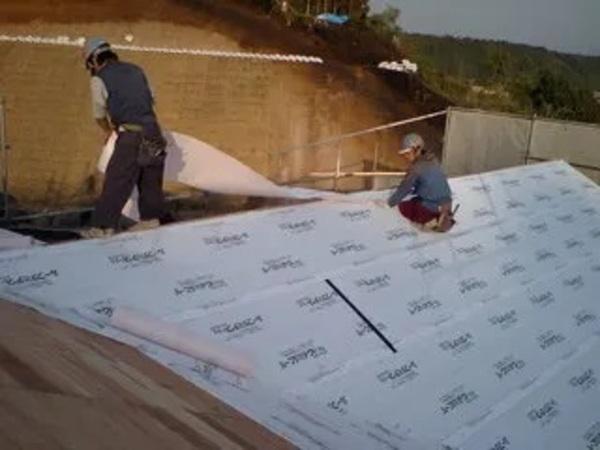 屋根下地と外壁下地