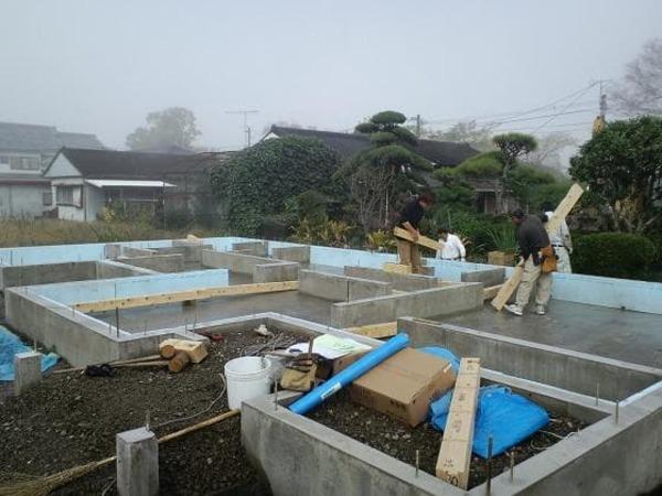 上棟準備:大工工事の始まり